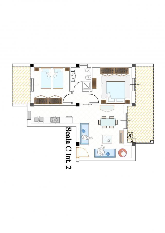 Appartamento in vendita a Monteprandone, 3 locali, zona Zona: Centobuchi, prezzo € 140.000 | CambioCasa.it