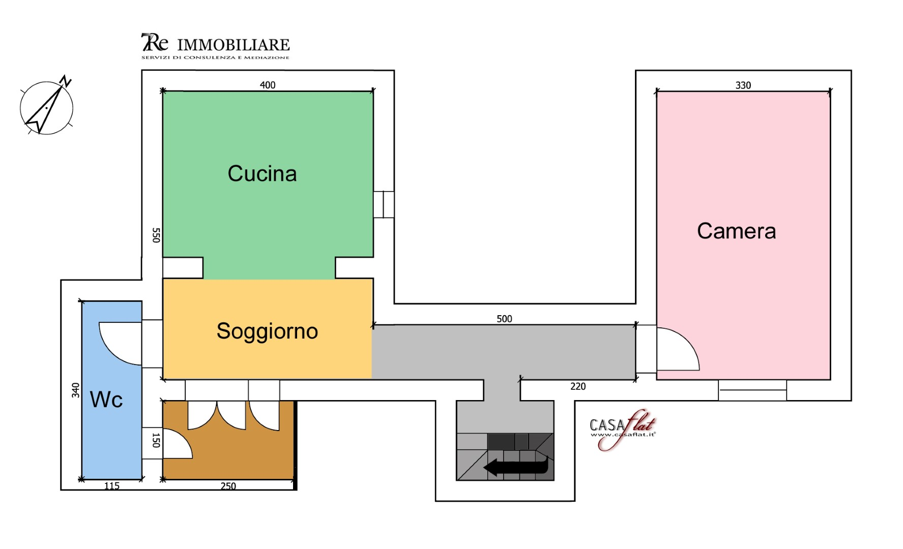 Appartamento in affitto a Palermo, 2 locali, zona Zona: Politeama, prezzo € 400 | CambioCasa.it