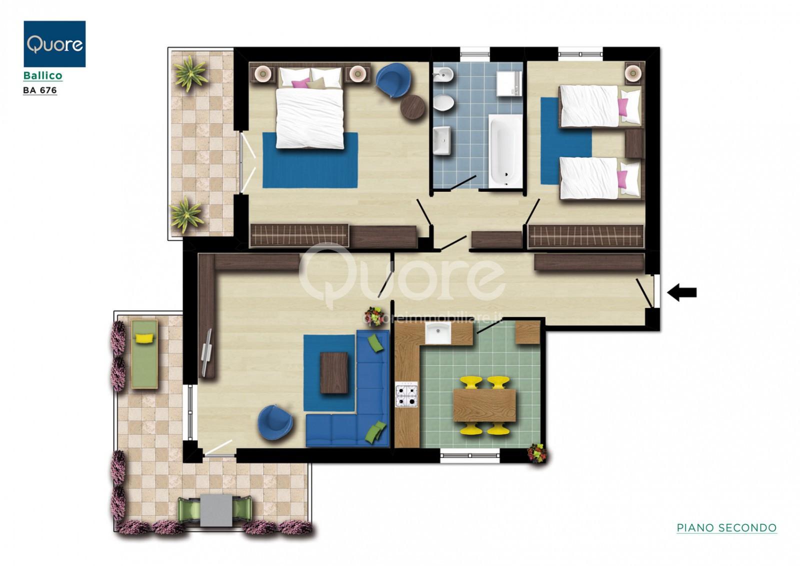 Appartamento in vendita a Tavagnacco, 4 locali, zona Località: FelettoUmberto, prezzo € 99.000 | CambioCasa.it