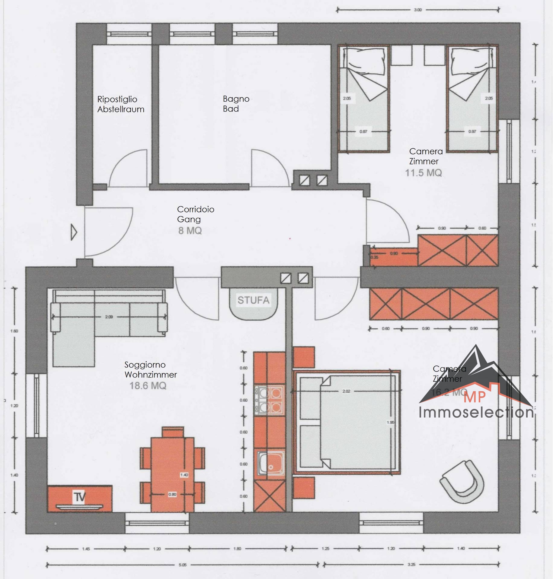 Appartamento in affitto a Falzes, 3 locali, zona Zona: Issengo, prezzo € 700 | CambioCasa.it