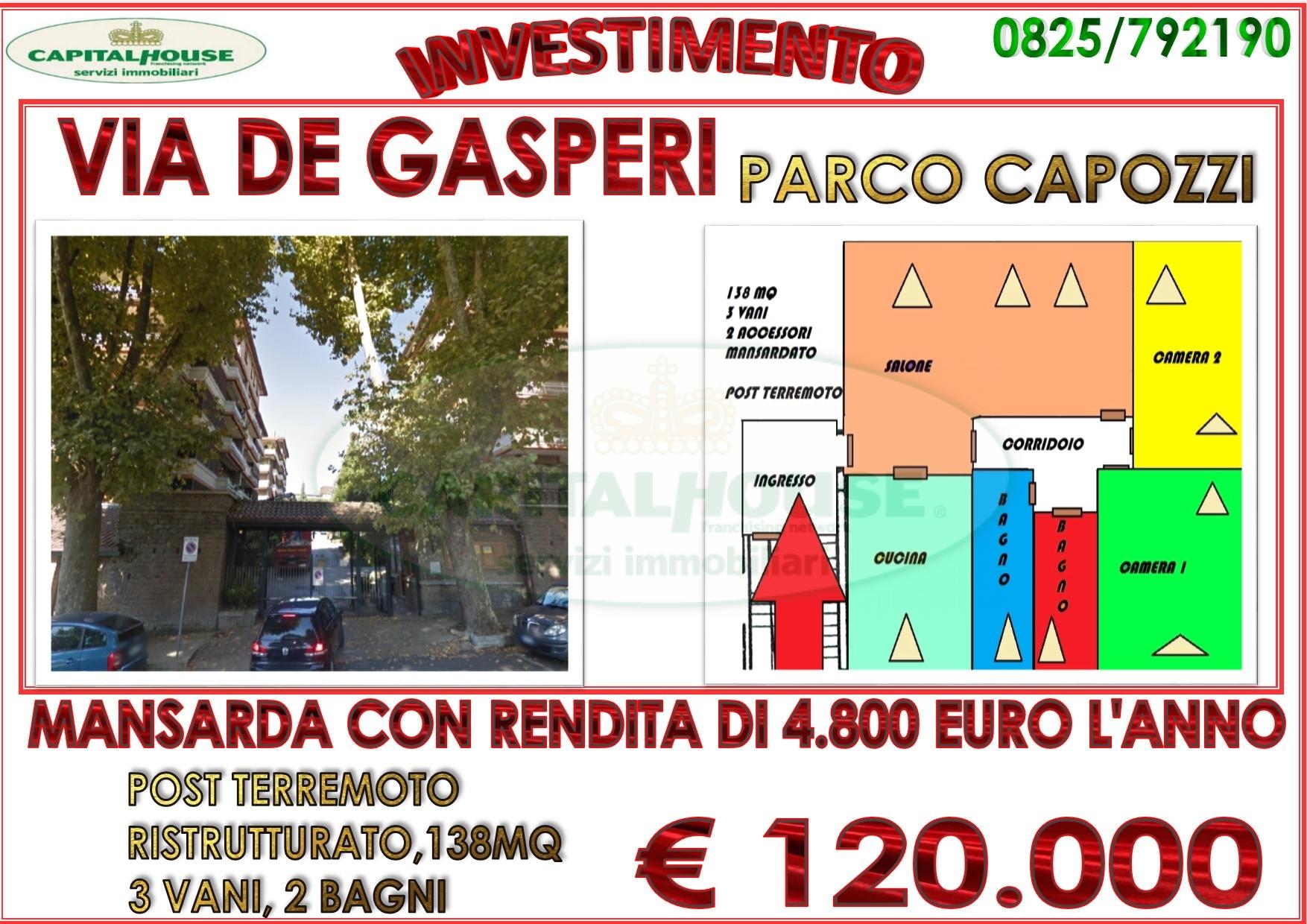 Attico / Mansarda in vendita a Avellino, 3 locali, zona Località: ContradaPenniniViaAlcidedeGasperi, prezzo € 120.000   CambioCasa.it