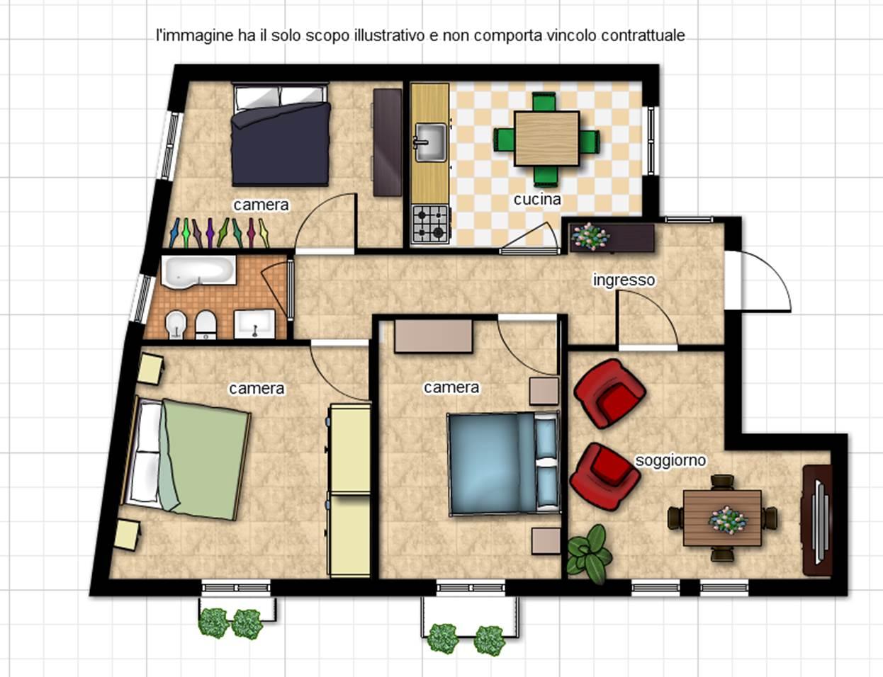 Appartamento in vendita a Viterbo, 4 locali, zona Zona: Centro, prezzo € 80.000   CambioCasa.it