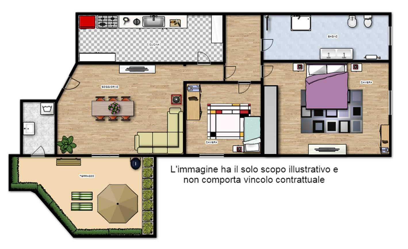 Appartamento in vendita a Viterbo, 3 locali, zona Zona: Semicentro, prezzo € 98.000   CambioCasa.it