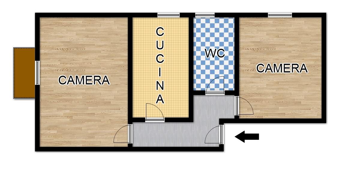 Appartamento in affitto a Palermo, 2 locali, zona Località: Centrostorico, prezzo € 450 | CambioCasa.it