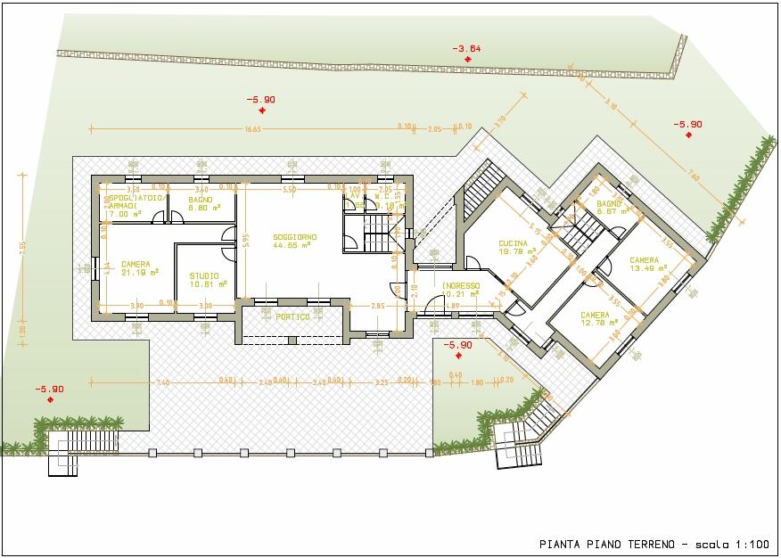 Villa in vendita a imperia cod v295 for Piccole planimetrie della cabina avvolgono il portico
