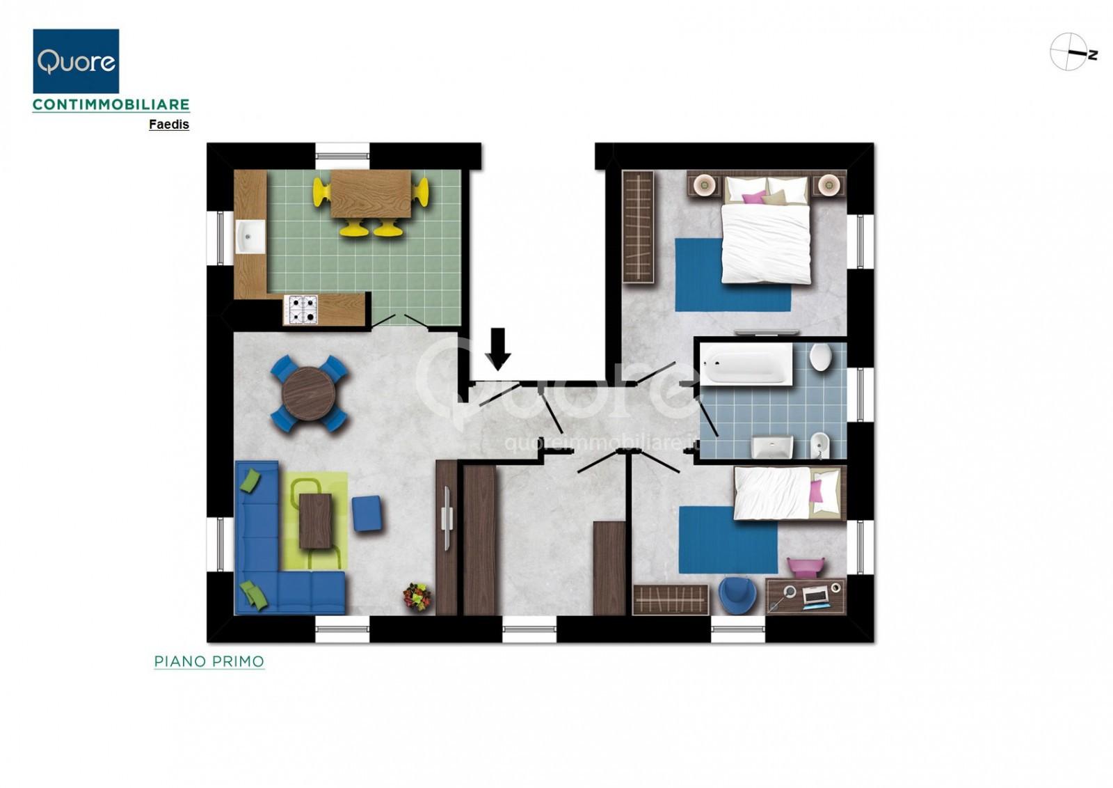 Appartamento in affitto a Faedis, 9999 locali, prezzo € 400 | Cambio Casa.it