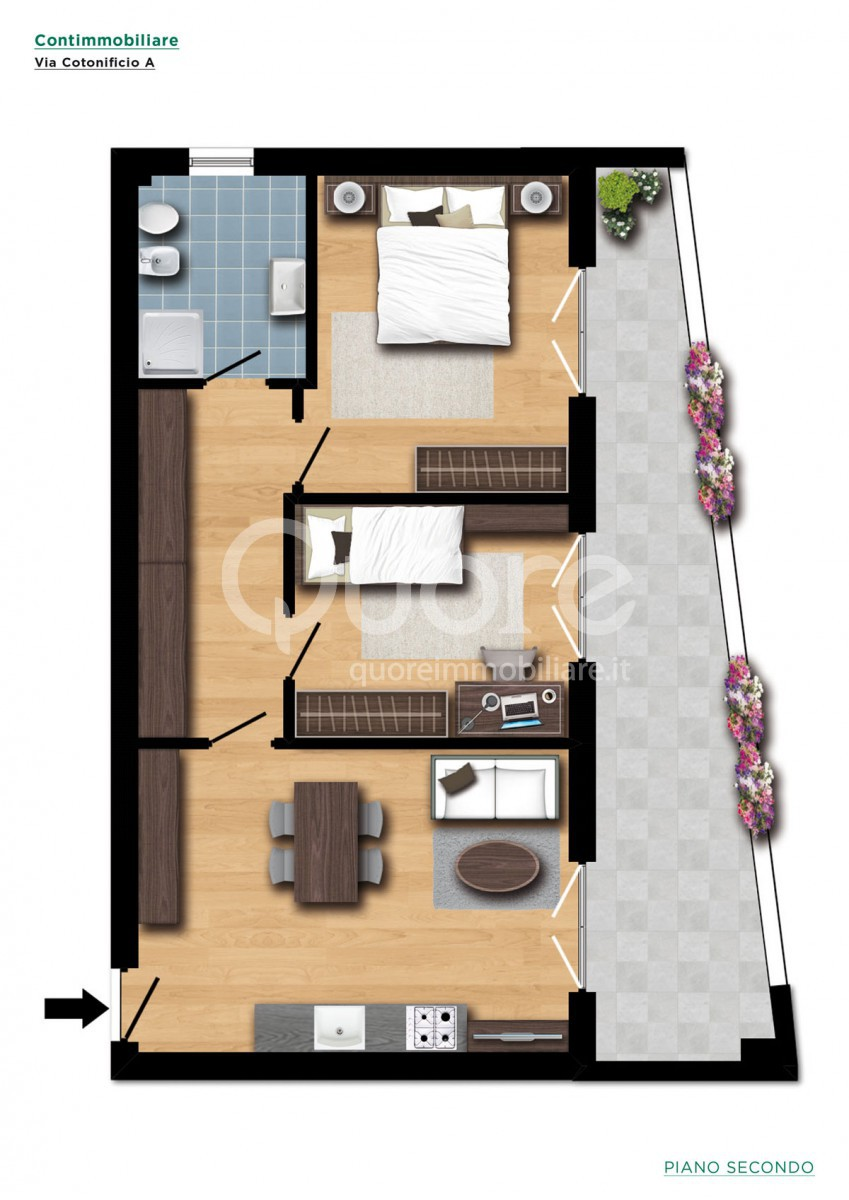 Appartamento in affitto a Udine, 3 locali, zona Zona: Periferia, prezzo € 520 | Cambio Casa.it