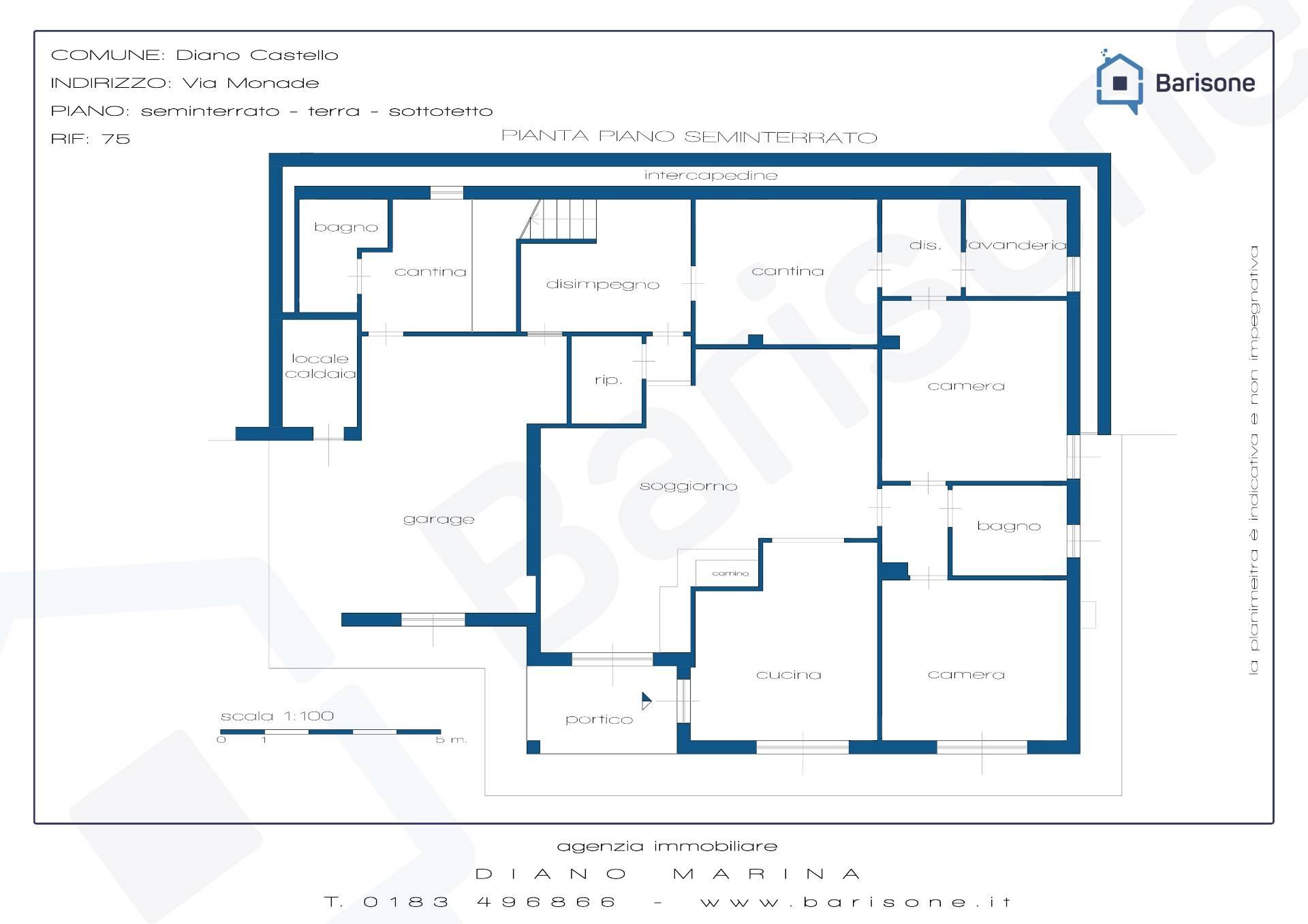 Villa in vendita a diano marina cod 75 for Planimetrie in vendita