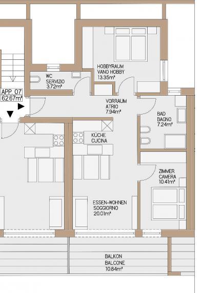 Appartamento in Vendita a Perca - Percha