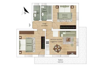 Appartamento in Vendita a Gais - Gais