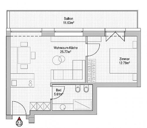 Wohnung zu Verkauf in Brunico - Bruneck