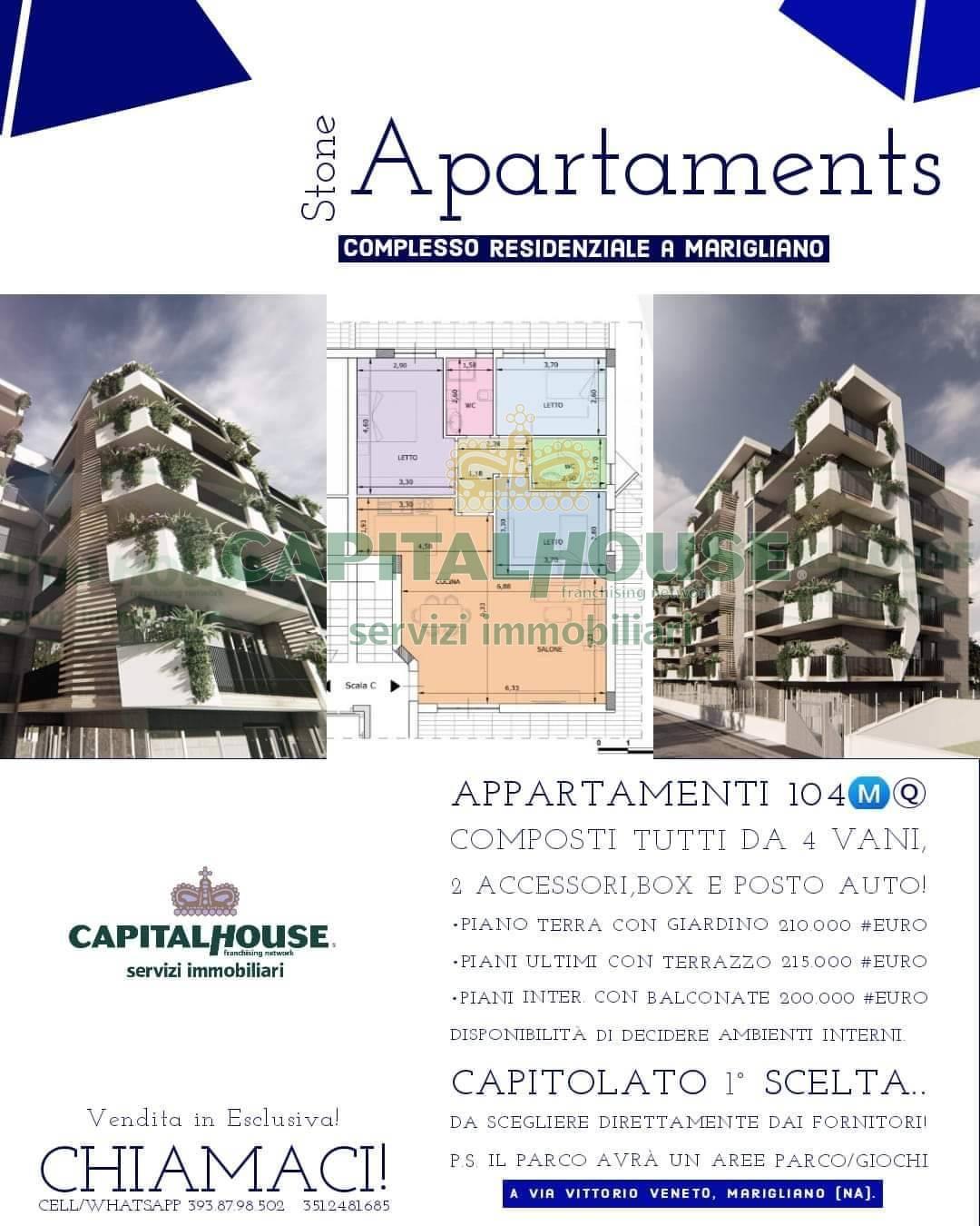 Appartamento in vendita a Marigliano, 4 locali, prezzo € 200.000 | PortaleAgenzieImmobiliari.it