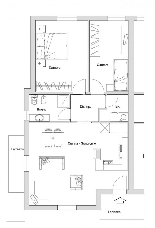 Vai alla scheda: Appartamento Vendita - Gambassi Terme (FI) - Rif. 8823