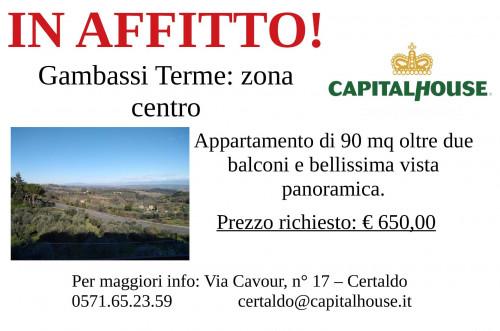 Vai alla scheda: Appartamento Affitto - Gambassi Terme (FI) - Rif. 8908