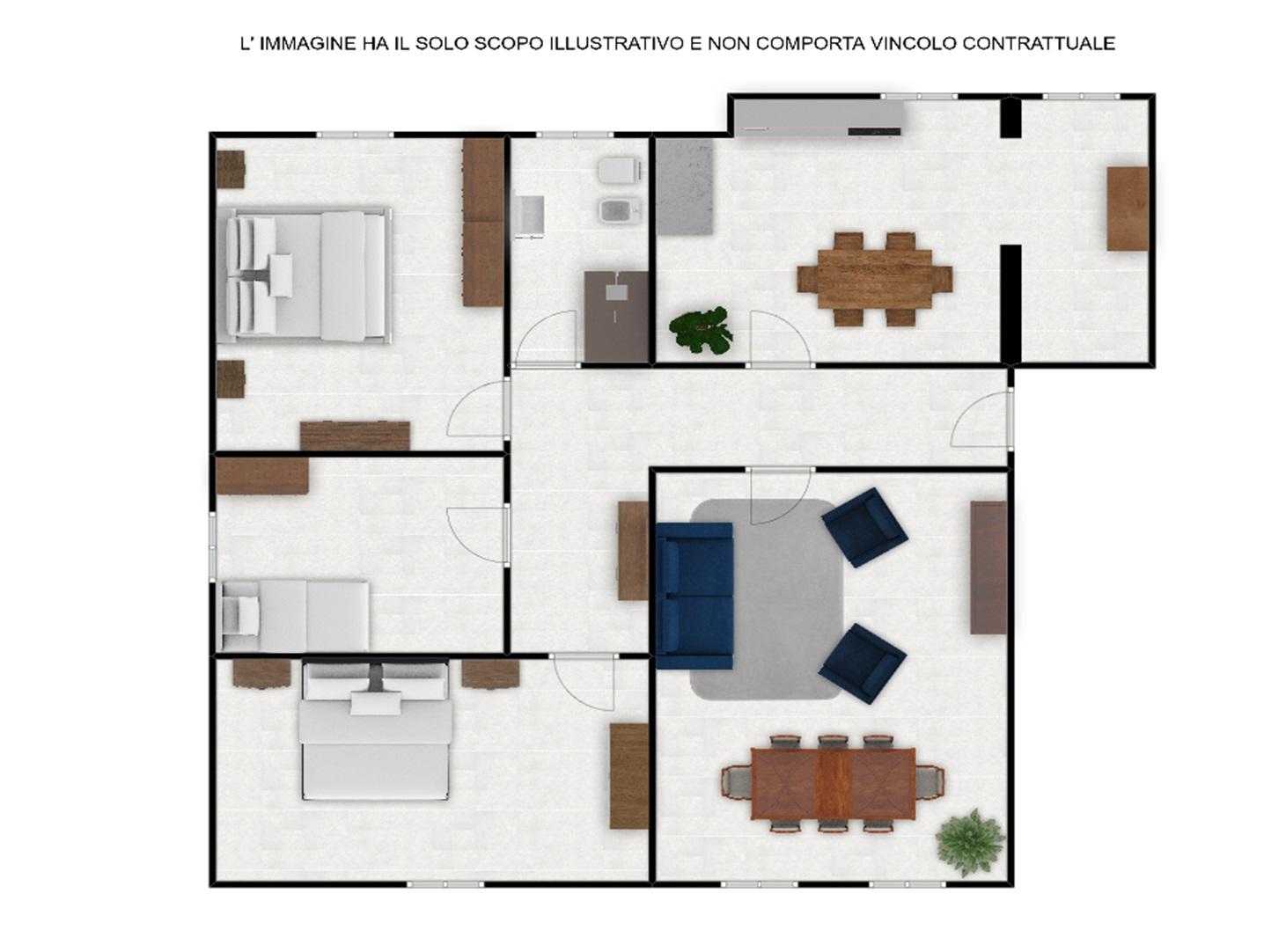 Appartamento in vendita a Viterbo, 4 locali, zona Zona: Semicentro, prezzo € 83.000   CambioCasa.it